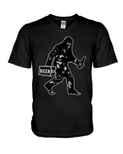 Beer Big Foot V-Neck T-Shirt thumbnail