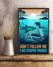 Ocean I Do Stupid things 16x24 Poster lifestyle-poster-3