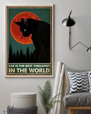 Cat Is The Best Therapist 16x24 Poster lifestyle-poster-1