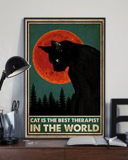 Cat Is The Best Therapist 16x24 Poster lifestyle-poster-2
