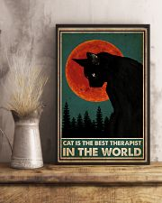 Cat Is The Best Therapist 16x24 Poster lifestyle-poster-3