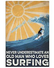 Surfing An Old Man 16x24 Poster front