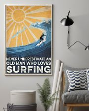 Surfing An Old Man 16x24 Poster lifestyle-poster-1
