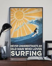 Surfing An Old Man 16x24 Poster lifestyle-poster-2
