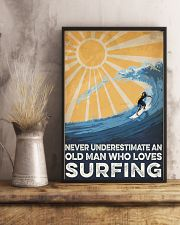 Surfing An Old Man 16x24 Poster lifestyle-poster-3