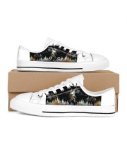 Camping Into The Forest Women's Low Top White Shoes tile