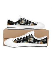 Camping Into The Forest Men's Low Top White Shoes inside-right-outside-right