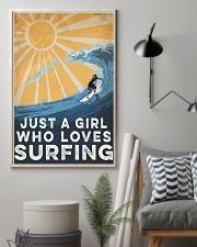 Surfing Just A Girl 16x24 Poster lifestyle-poster-1