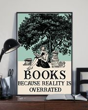 Book because Reality Is Overrated 16x24 Poster lifestyle-poster-2