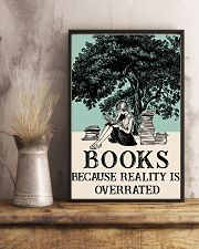 Book because Reality Is Overrated 16x24 Poster lifestyle-poster-3