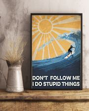 Surfing I Do Stupid Things 16x24 Poster lifestyle-poster-3