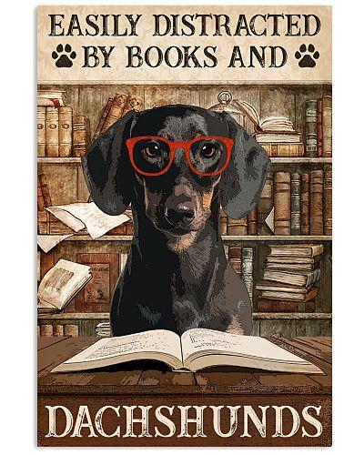 Dog Dachshund And Books