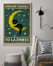 Cat Dedicate Yourself To Laziness 16x24 Poster lifestyle-poster-1