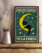 Cat Dedicate Yourself To Laziness 16x24 Poster lifestyle-poster-3