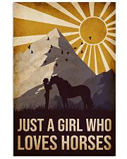 Horse Just A Girl 16x24 Poster front