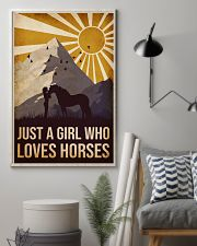Horse Just A Girl 16x24 Poster lifestyle-poster-1