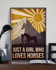Horse Just A Girl 16x24 Poster lifestyle-poster-2