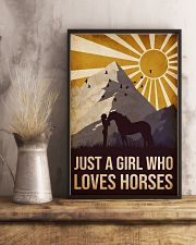 Horse Just A Girl 16x24 Poster lifestyle-poster-3