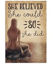 Mermaid She Believed She Could 16x24 Poster front