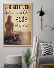 Mermaid She Believed She Could 16x24 Poster lifestyle-poster-1