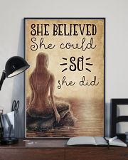 Mermaid She Believed She Could 16x24 Poster lifestyle-poster-2