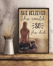 Mermaid She Believed She Could 16x24 Poster lifestyle-poster-3