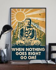 Yoga When Nothing Goes Right Go Om 16x24 Poster lifestyle-poster-2