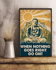 Yoga When Nothing Goes Right Go Om 16x24 Poster lifestyle-poster-3