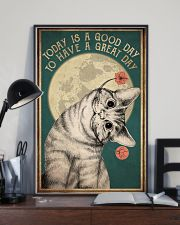 Cat Today Is A Good Day 16x24 Poster lifestyle-poster-2