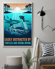Ocean Turtles And Scuba Diving 16x24 Poster lifestyle-poster-1