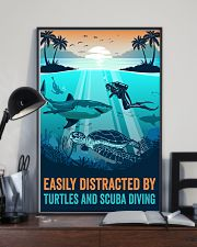 Ocean Turtles And Scuba Diving 16x24 Poster lifestyle-poster-2
