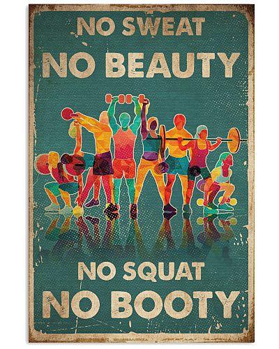 Fitness No Sweat No Beauty No Squat No Booty
