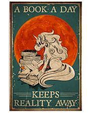 Unicorn A Book A Day Keeps Reality Away 16x24 Poster front