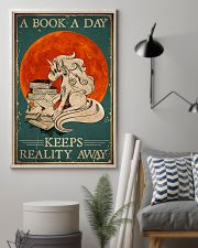 Unicorn A Book A Day Keeps Reality Away 16x24 Poster lifestyle-poster-1