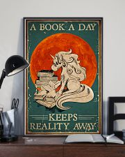 Unicorn A Book A Day Keeps Reality Away 16x24 Poster lifestyle-poster-2