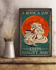 Unicorn A Book A Day Keeps Reality Away 16x24 Poster lifestyle-poster-3