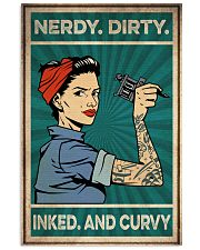 Tattoo Nerdy Dirty Inked And Curvy 16x24 Poster front