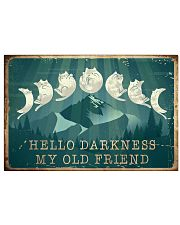 Cat Hello Darkness 36x24 Poster front