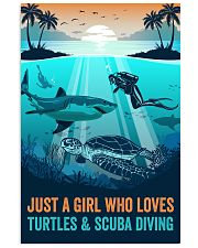 Ocean Turtles And Scuba Diving 16x24 Poster front