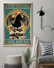 Cat Eat Pizza Hail Satan 16x24 Poster lifestyle-poster-1