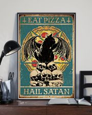 Cat Eat Pizza Hail Satan 16x24 Poster lifestyle-poster-2