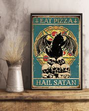 Cat Eat Pizza Hail Satan 16x24 Poster lifestyle-poster-3