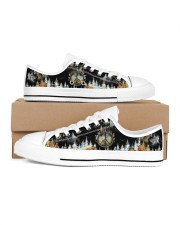Camping Into The Forest Men's Low Top White Shoes inside-left-outside-left