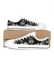 Camping Into The Forest Women's Low Top White Shoes thumbnail