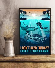 Ocean I Don't Need Therapy 16x24 Poster lifestyle-poster-3