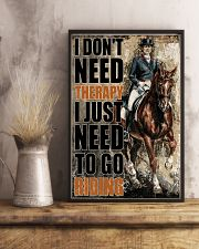 Horse I Don't Need Therapy 16x24 Poster lifestyle-poster-3