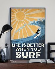Surfing Life Is Better 16x24 Poster lifestyle-poster-2