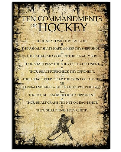 Hockey Ten Commandments