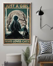 Cat Just A Girl 16x24 Poster lifestyle-poster-1