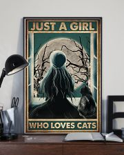 Cat Just A Girl 16x24 Poster lifestyle-poster-2